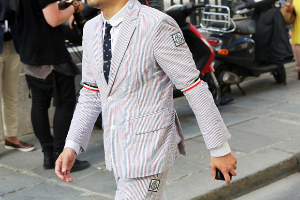 STREETFSN: Thom Browne's Red, White and Blue