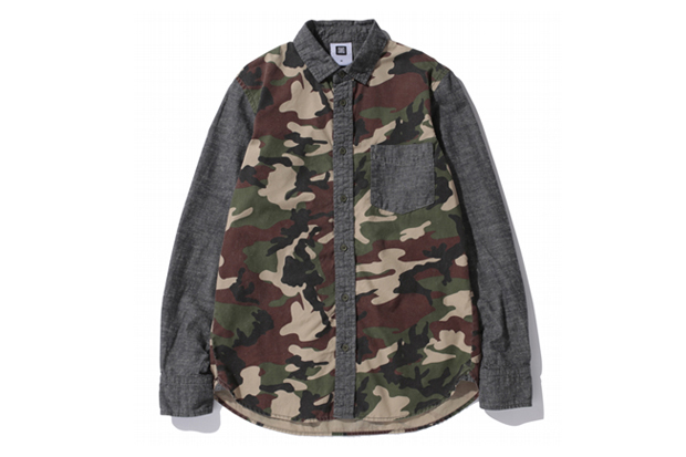 swagger 2012 fall winter mixed camo chambray shirts