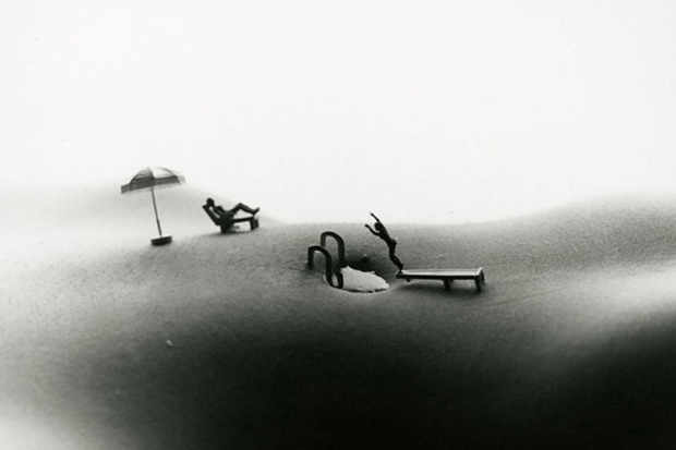 The Body As A Landscape For Minitature Scenes by Allan Teger