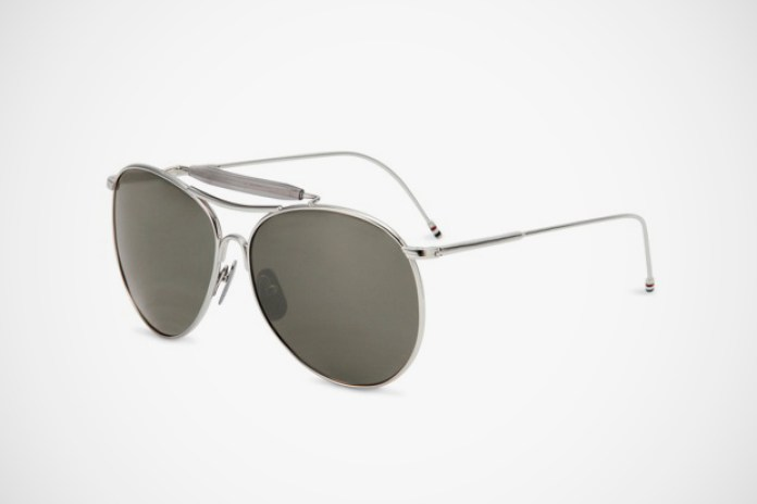 Thom Browne Shiny Silver Sunglasses