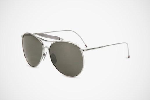 Thom Browne Shiny Silver Sunglasses