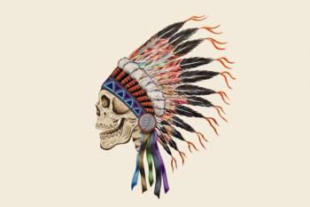 Wes Lang x Warrior Skull Print