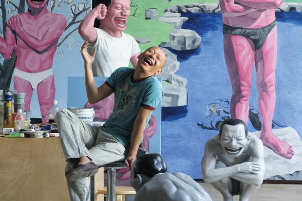 Yue Minjun @ Fondation Cartier pour l'Art Contemporain Exhibition Preview