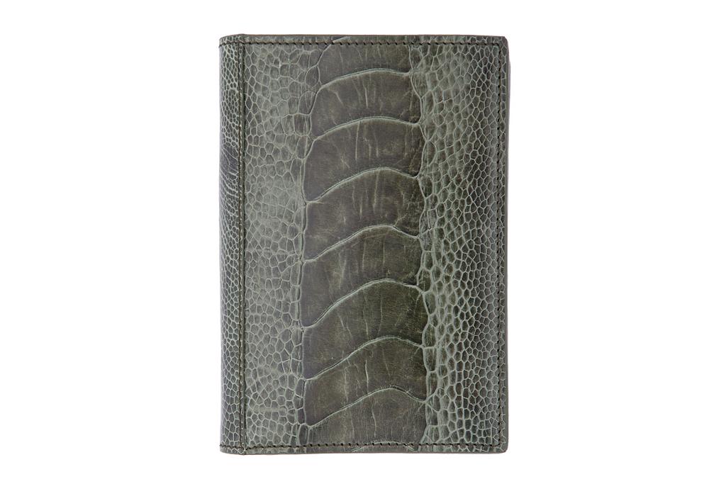 Yves Saint Laurent Olive Ostrich Wallet