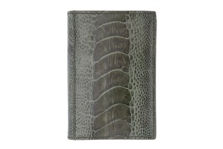 Yves Saint Laurent Olive Ostrich Wallet