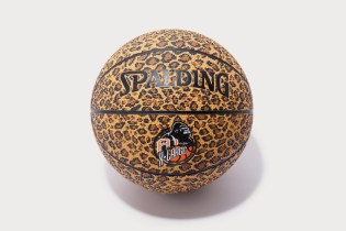 A-1 STORE x XLARGE Leopard Print Spalding Basketball