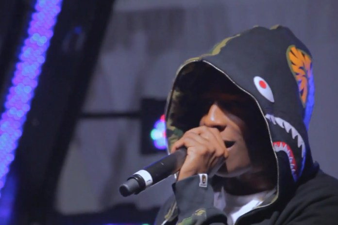 A$AP Rocky at the adidas Originals NYC Store 10th Anniversary Party