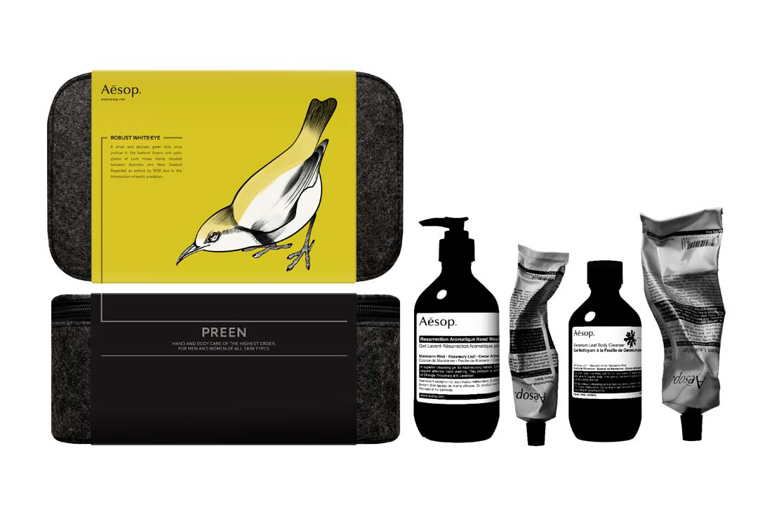 """Aesop """"Bird"""" Grooming and Care Kits"""