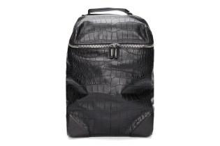 Alexander Wang Black Croc Embossed Leather Wallie Backpack