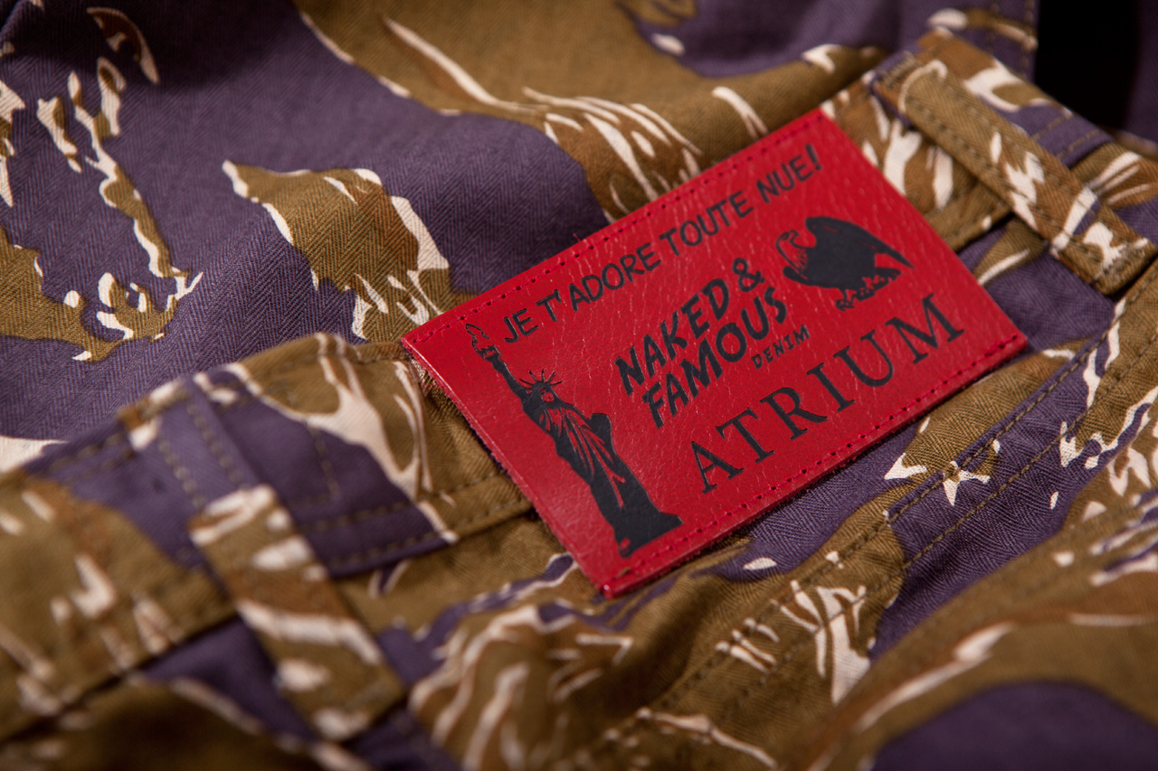 atrium x naked famous je tadore tout nue tiger camo jeans