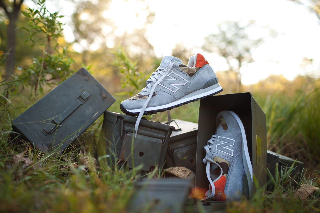 """Ball and Buck Injects Its American-Made Ethos Into the New Balance """"Camo"""" US574"""