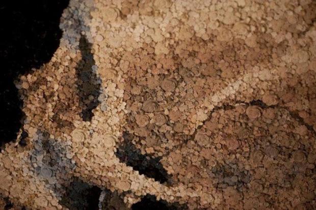 Breathtaking Mosaics Fashioned from Tiny Hand-Cast Objects