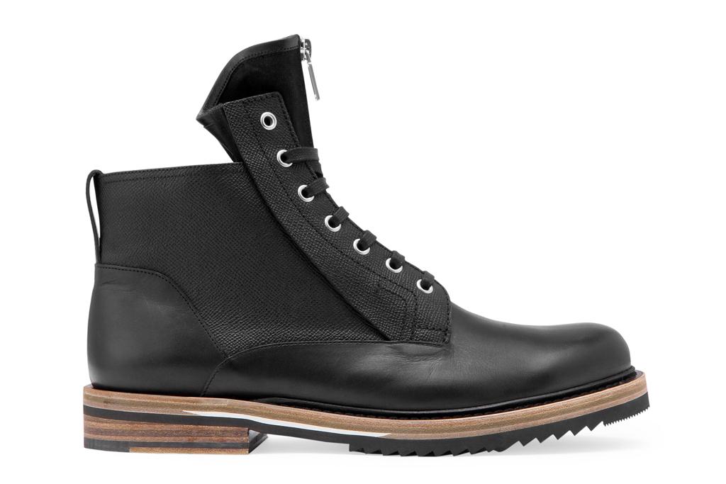 dior homme zipper tongue boots