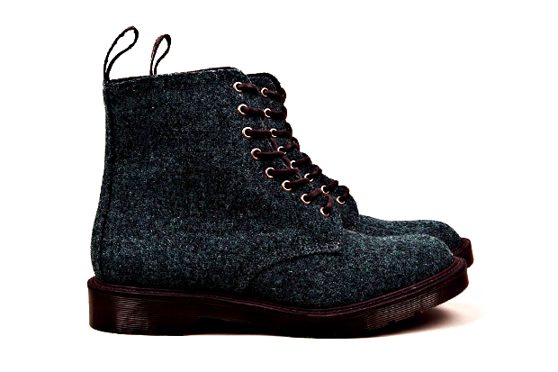 Harris Tweed x Dr. Martens M.I.E. Beckett 8-Eye Boot