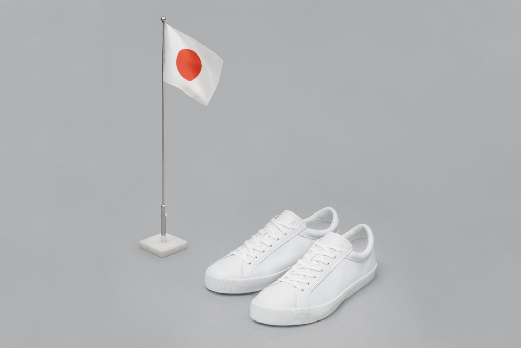 erik schedins iconic all white sneaker arrives at dover street markets ginza tokyo location