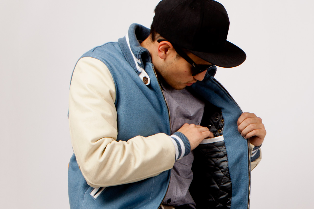 golden bear x garbstore 2012 fall winter vintage varsity jacket