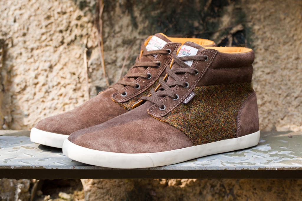 harris tweed x clarks 2012 fall winter torbay point khaki suede sports boots