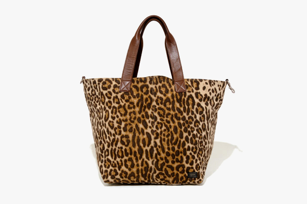 head porter leopard print tote bag