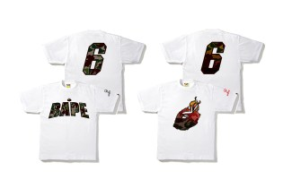 LeBron James' UNKNWN and A Bathing Ape Collaborate on a Series of T-Shirts
