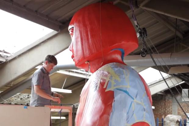 Louis Vuitton Show the Making of a Giant Yayoi Kusama Statue