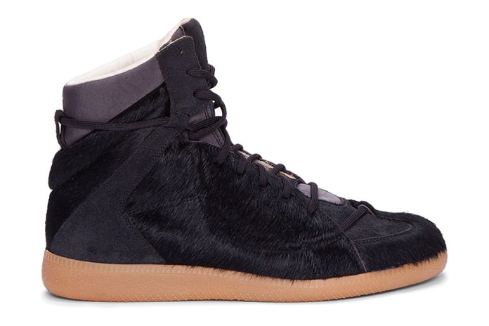 Maison Martin Margiela Calf-Hair Matelasse Hi-Top Sneaker