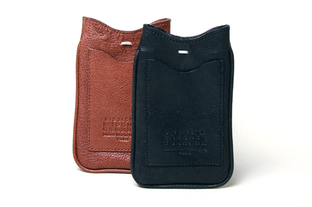 maison martin margiela leather phone pouch