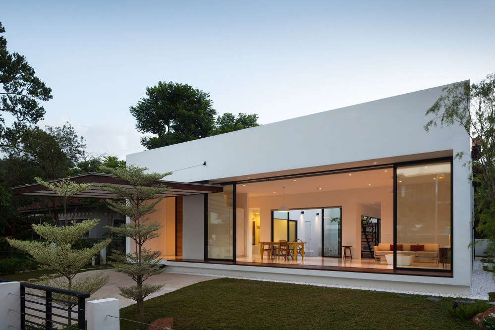 Mandai Courtyard House by Atelier M+A