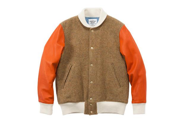 MR. GENTLEMAN English Wool Stadium Jacket