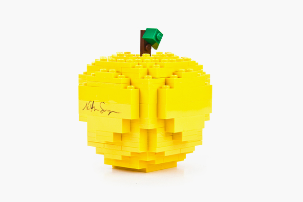 Nathan Sawaya for COMME des GARCONS Yellow LEGO Apple