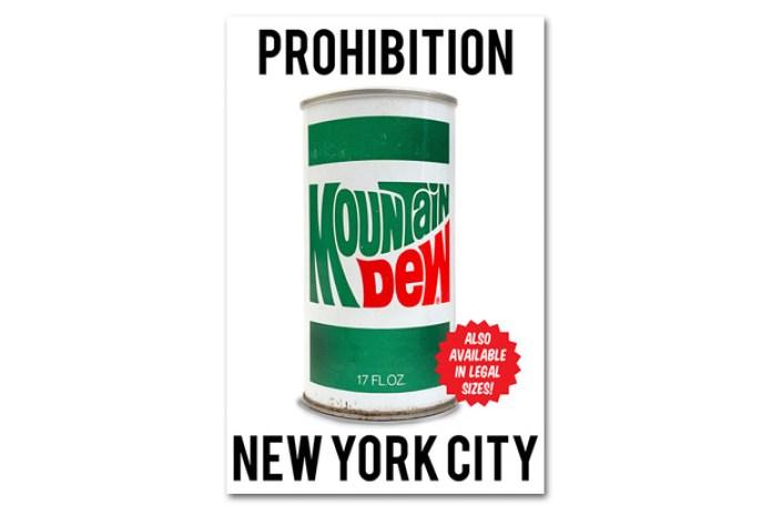 New York City Looks to Ban Soda Over 16 oz.: Mountain Dew's Art Response