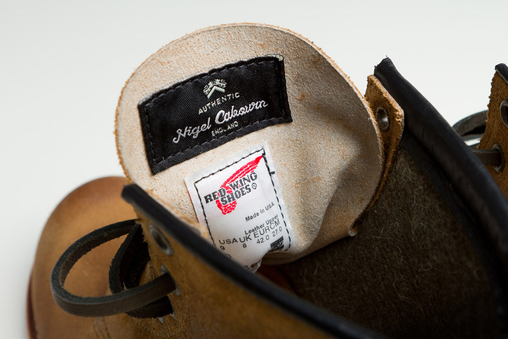 nigel cabourn x red wing heritage munson boot