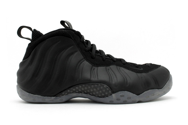 nike air foamposite one le black medium grey