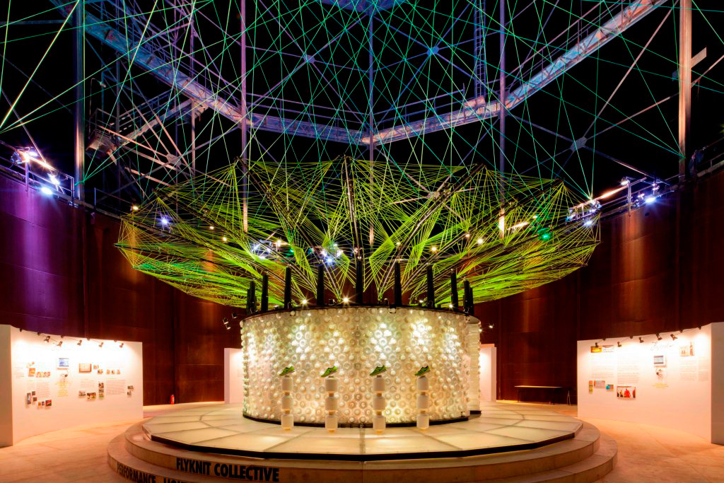 Nike Reveals Flyknit Collective Feather Pavilion @ Beijing Design Week