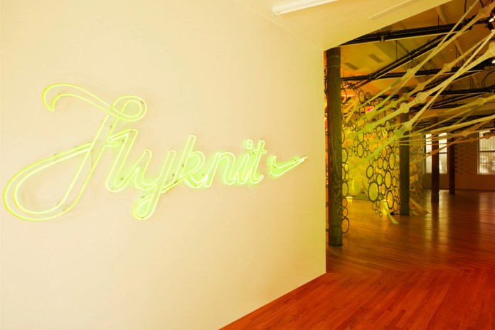 Nike Reveals NYC Flyknit Collective myThread Pavilion by Jenny Sabin
