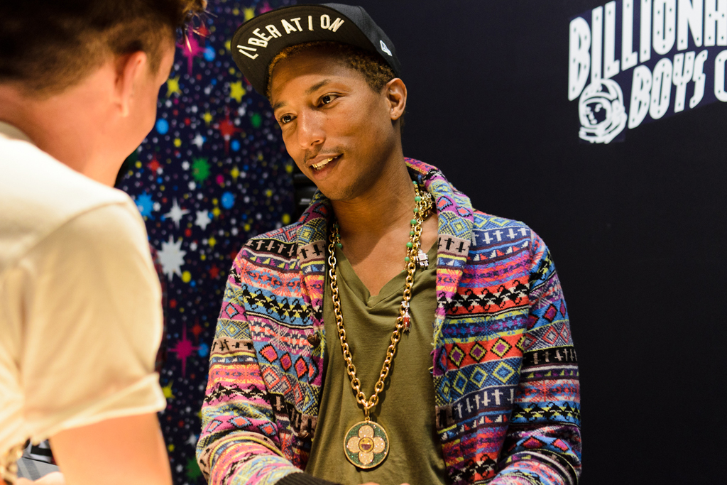 Pharrell Williams Hosts Fashion's Night Out Party at BBC/ICECREAM SoHo