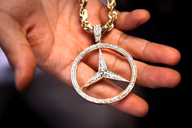 Ian connor pastelle jewelry line by ben baller if co for Mercedes benz pendant