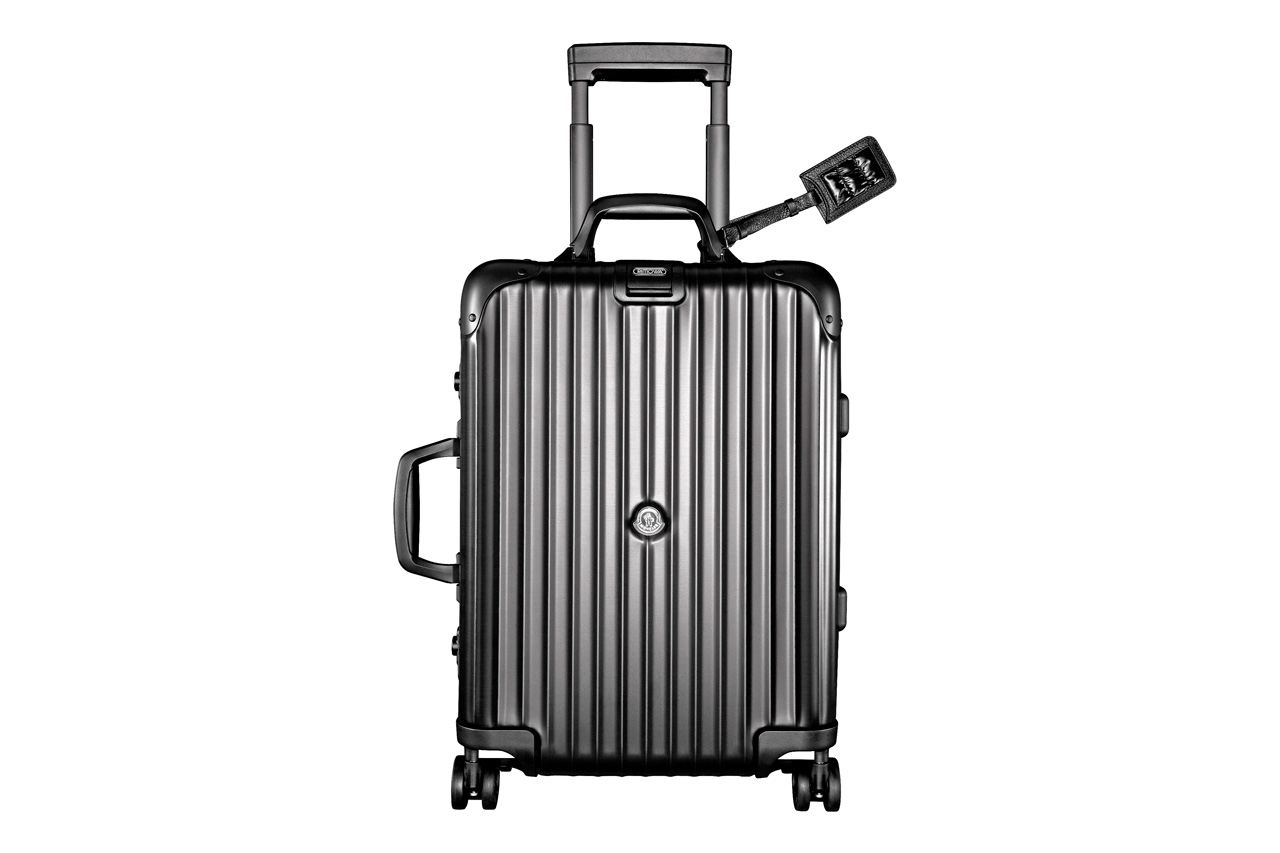 rimowa moncler the suitcase with a heart of down