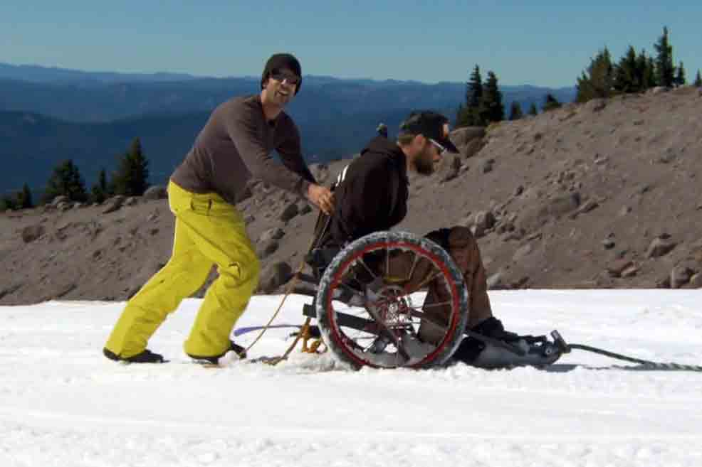 Signal Snowboards Create a Custom Wheelchair Snowboard for Tim Ostler