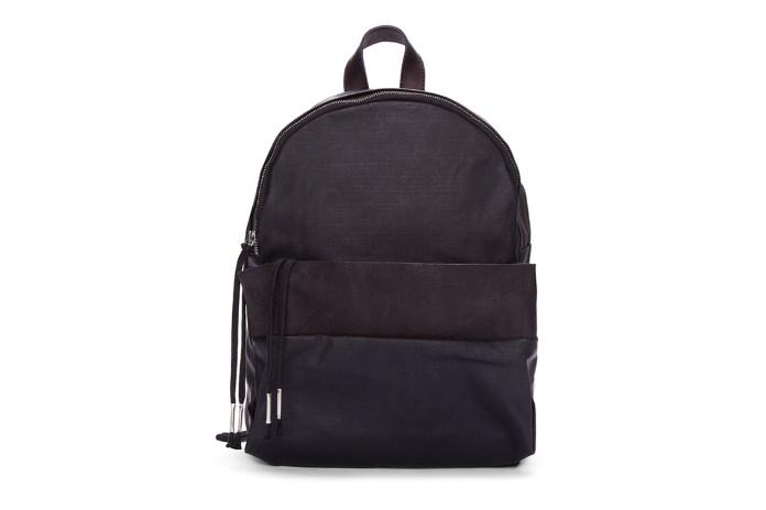 SILENT Damir Doma Black Leather Trimmed Bango Backpack