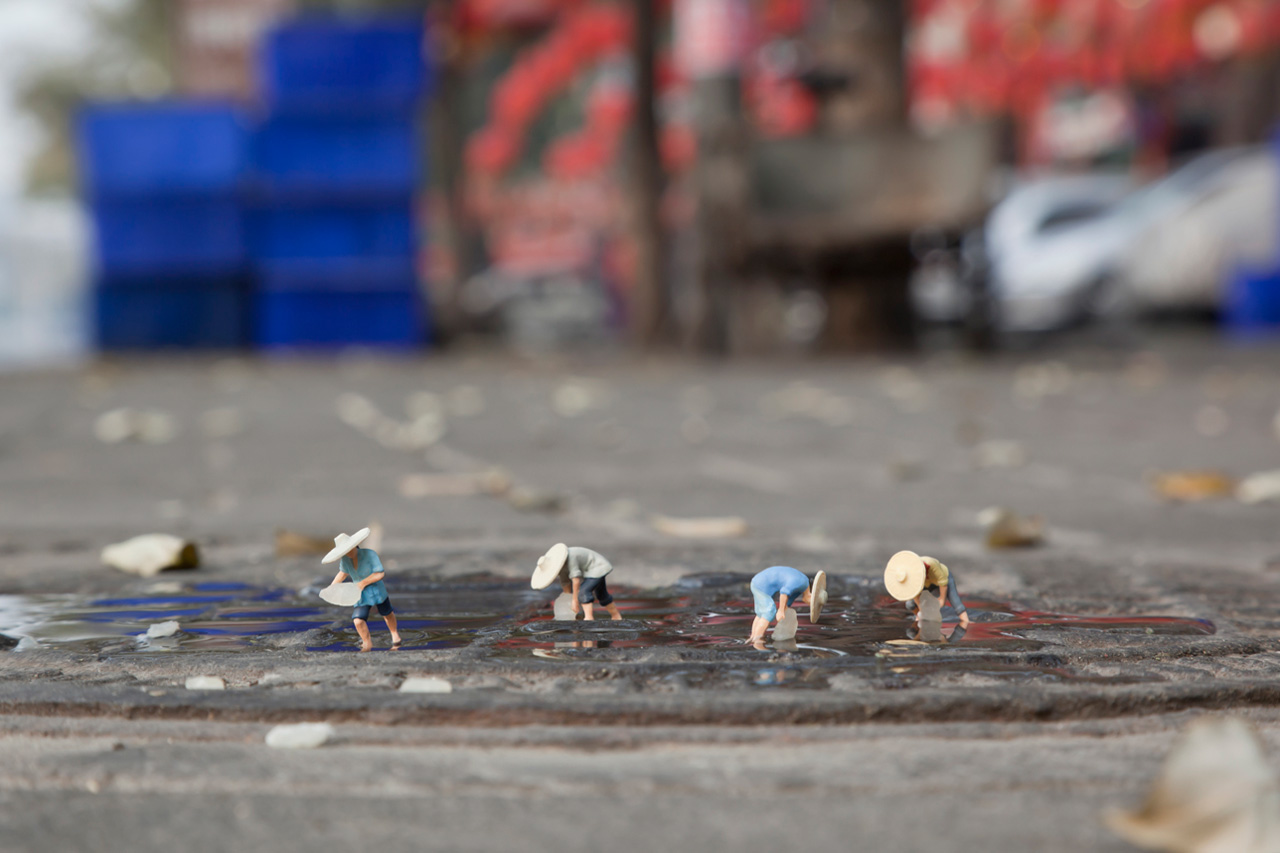 "Slinkachu ""Global Model Village"" Exhibition @ Andipa Gallery and Broome Street Gallery"