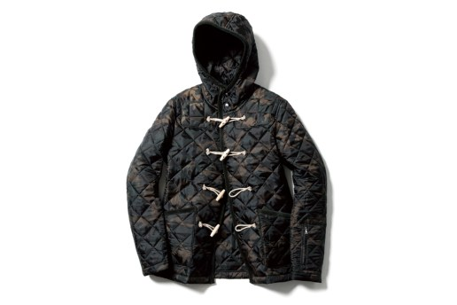 SOPHNET. CAMOUFLAGE QUILTING DUFFLE BLOUSON