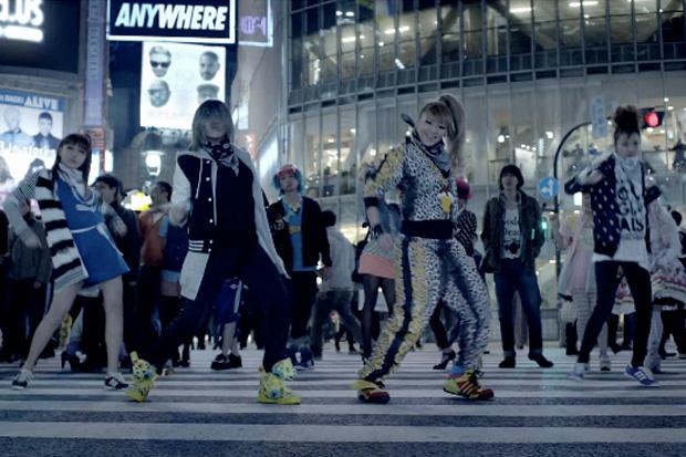South Korean Super Group 2NE1 Invade Shibuya's Infamous Crossing for adidas #Represent