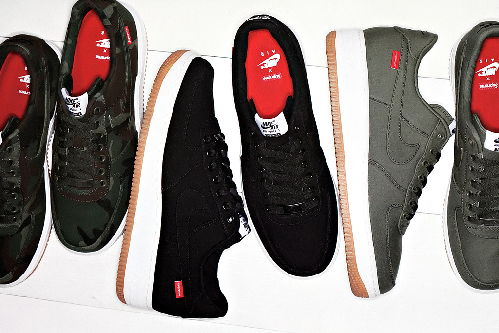 supreme x nike air force 1 2012