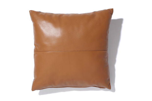a bathing ape 2012 fall winter leather x bape check cushion