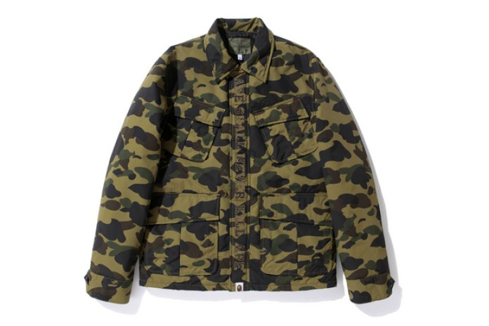 A Bathing Ape 2012 Winter 1ST CAMO ARMY JUNGLE FATIGUE SHIRT