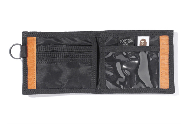 a bathing ape x porter jacquard abc wallet