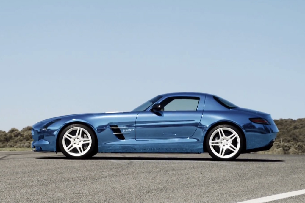 A Video Look Into the Brilliant Blue Mercedes-Benz SLS AMG Coupe