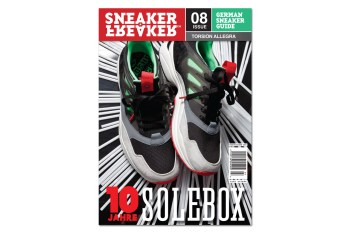 adidas Torsion Allegra Preview on Cover of Sneaker Freaker Germany Issue 08