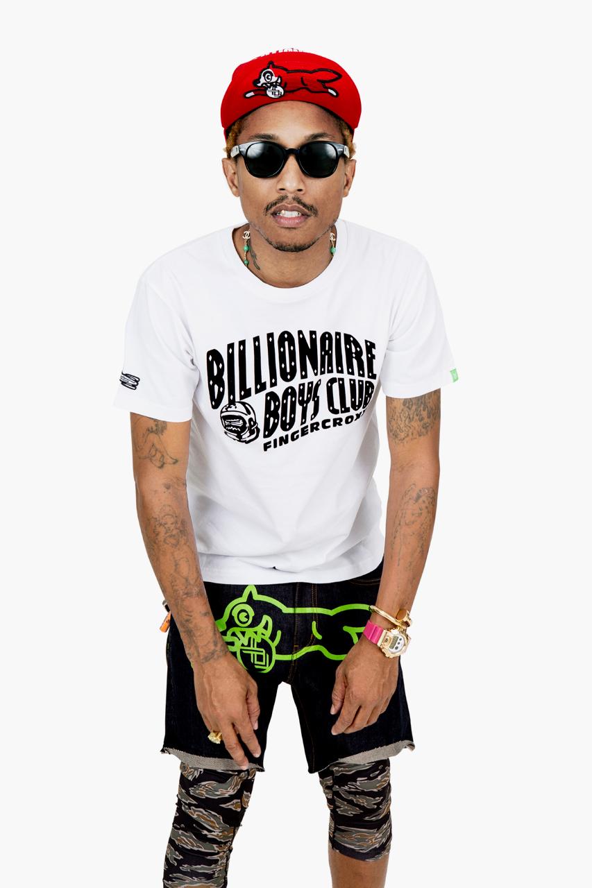 billionaire boys club x fingercroxx 2012 fall winter 10th anniversary lookbook feat pharrell williams