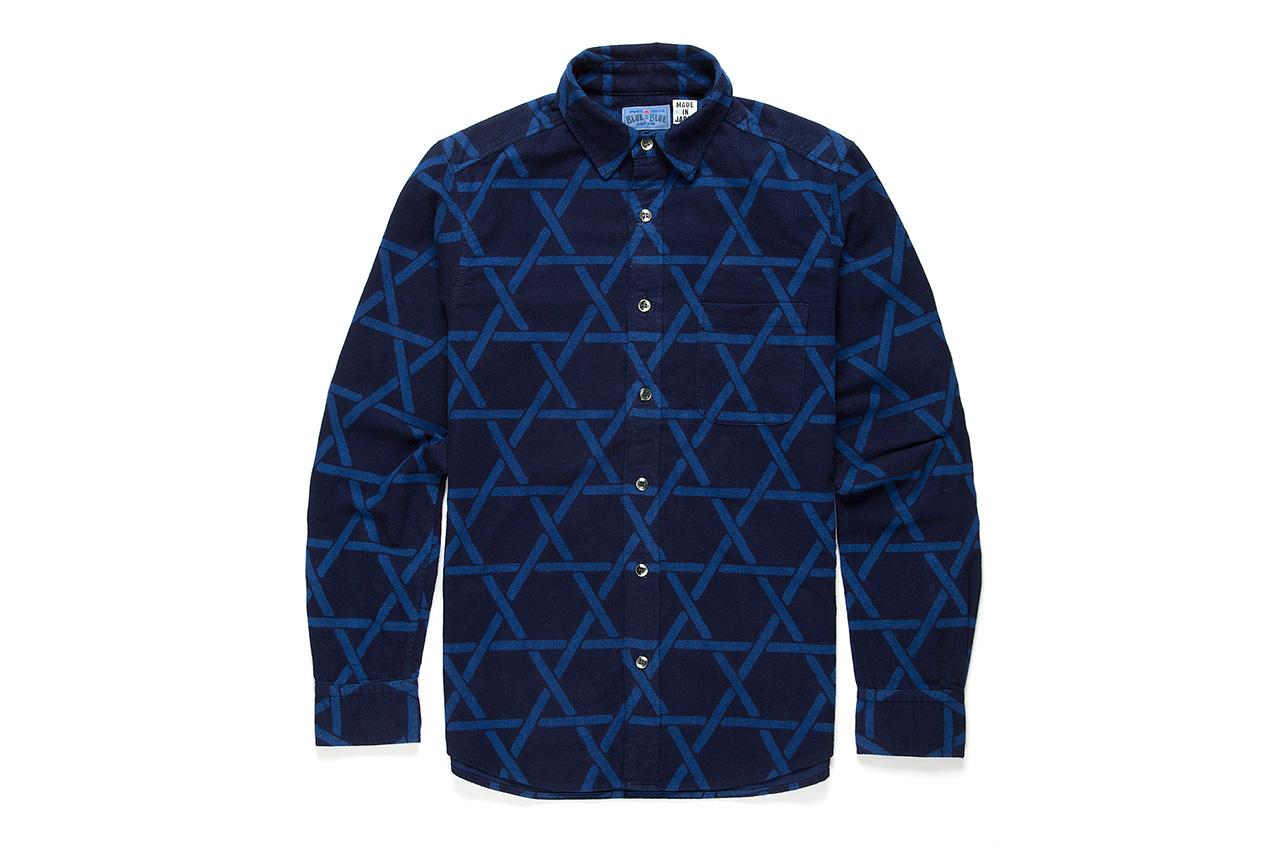 Blue Blue 2012 Fall/Winter Discharged Indigo Dyed Shirt